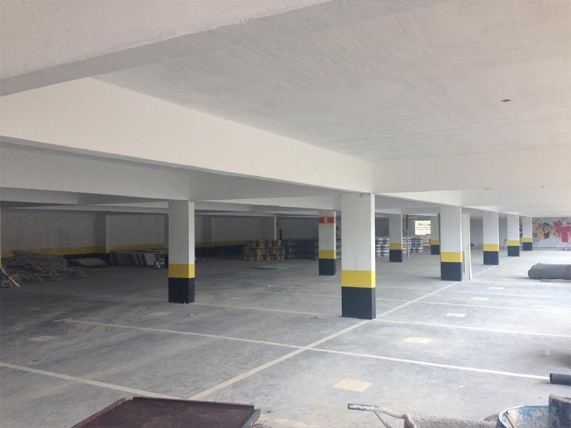 Demarcação de vagas do 2º subsolo Edifício garagem