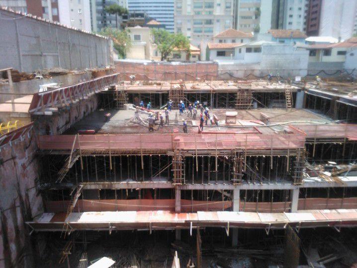 Concretagem piso 1º subsolo