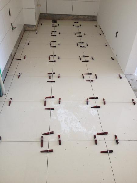 Execução de piso porcelanato