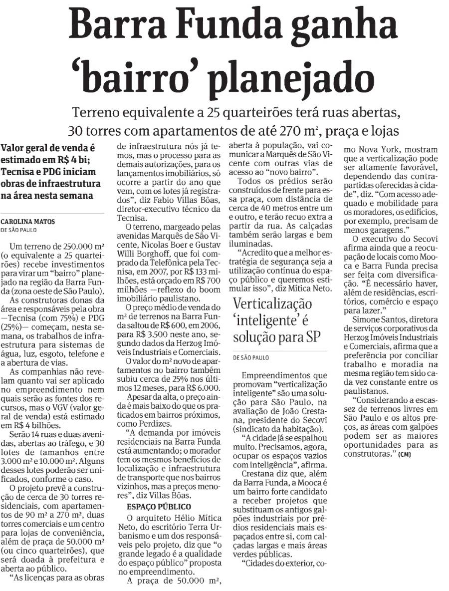 Barra Funda ganha bairro planejado