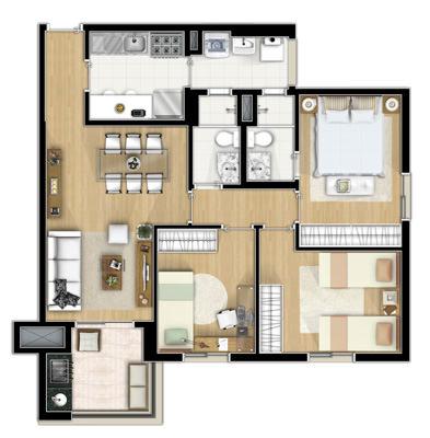 Viverde apartamentos no bairro freguesia do em s o for Google planimetria