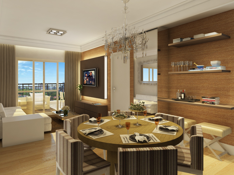 Living apto 115 m²