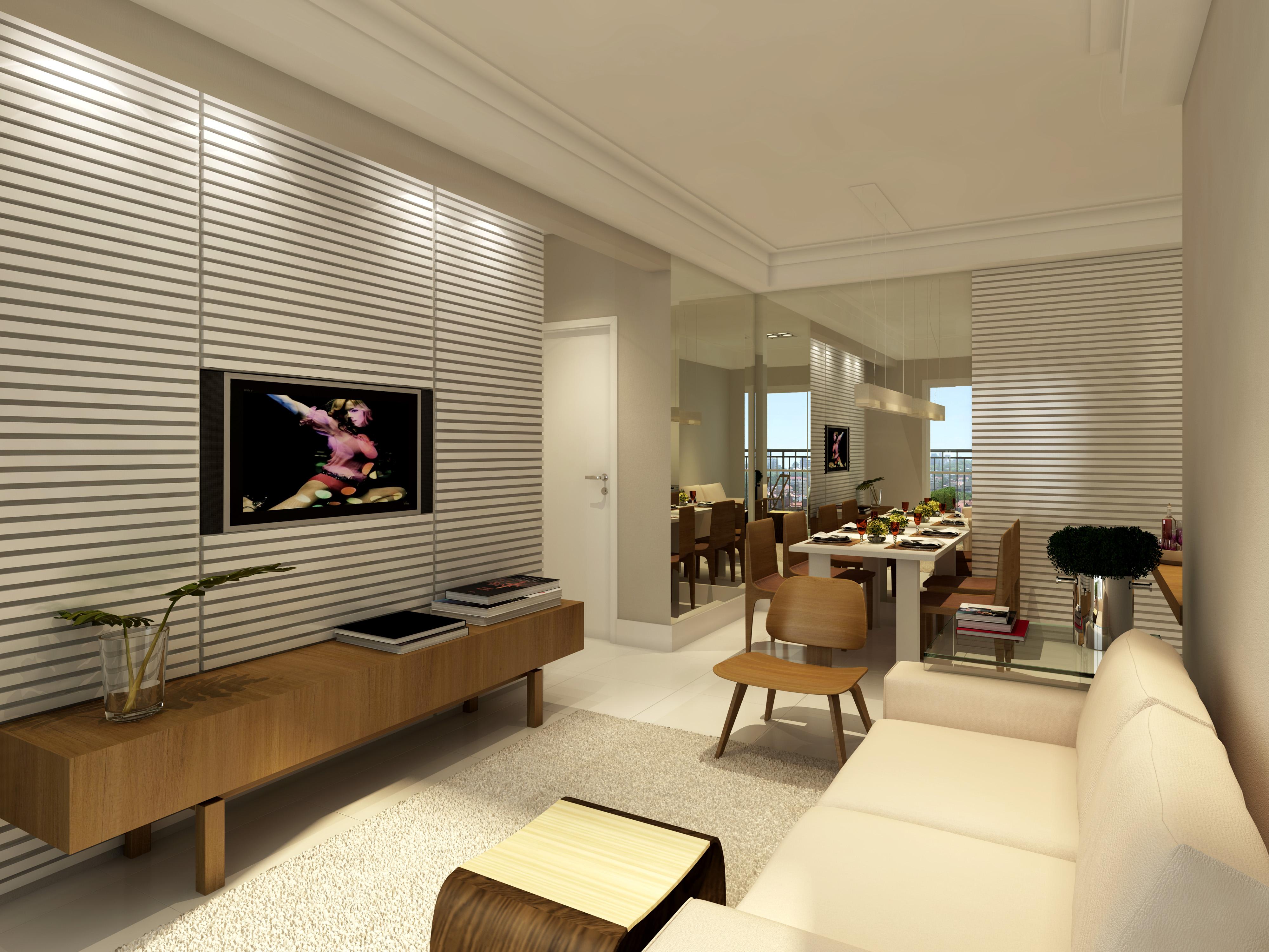 Living apto 76 m²