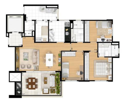 116m² 3 dorms
