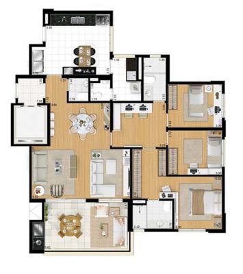 142m² 3 dorms