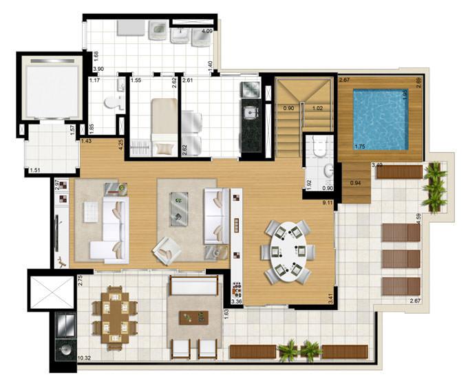3 dorms piso inferior