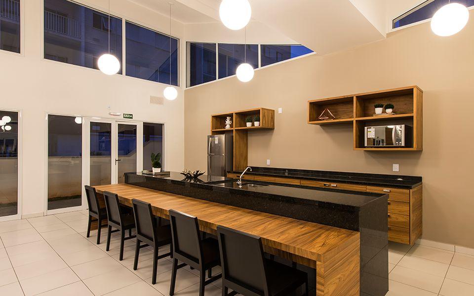 Salão de festas e espaço gourmet