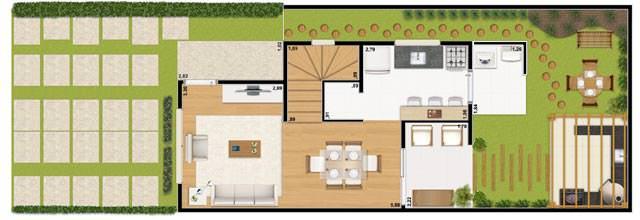 Casa 66m² - inferior