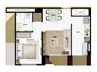36,55m² 1 dorm - Art Life Acqua Village - Tecnisa