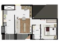 37,21m² 1 dorm - Art Life Acqua Village - Tecnisa