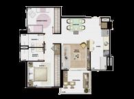 60,27m² 2 dorms cozinha - Art Life Acqua Village - Tecnisa
