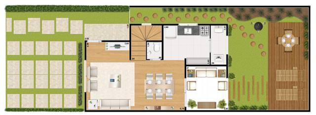 Casa 82m² - inferior