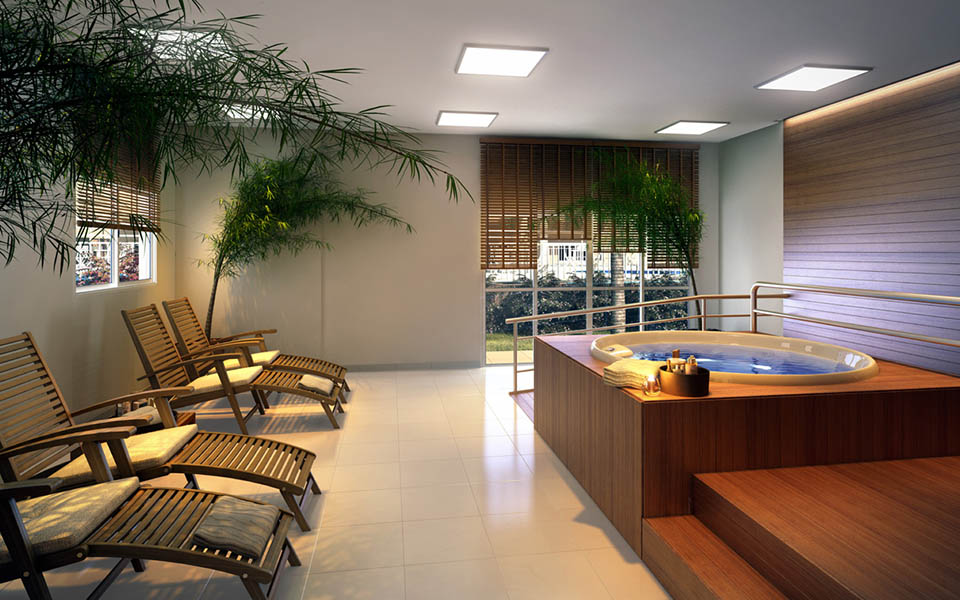 Sauna e Sala de descanso