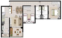 70 m² - 2 dorms - Flex Tapajós - Tecnisa