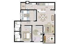 85m² - 3 dorms - Flex Tapajós - Tecnisa
