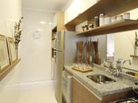 66,84m² - Cozinha - Flex Jundiaí - Tecnisa