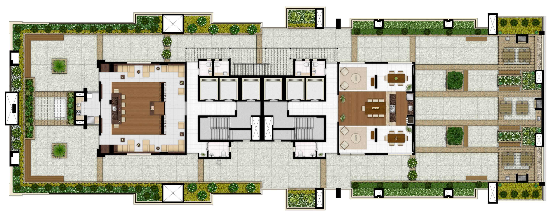 Cobertura residencial - Lazer