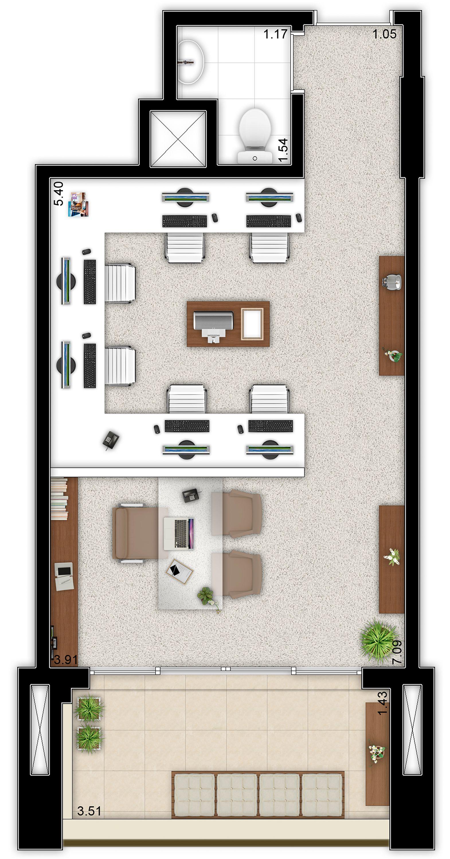 34m² - Sala comercial