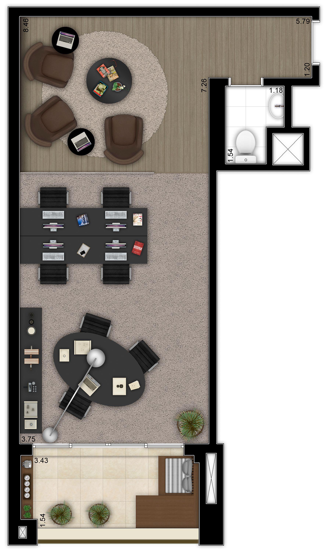 48m² - Sala comercial