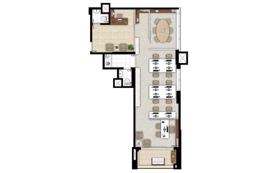 81m² - Sala comercial