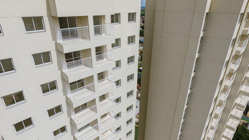 Fachadas nos andares superiores