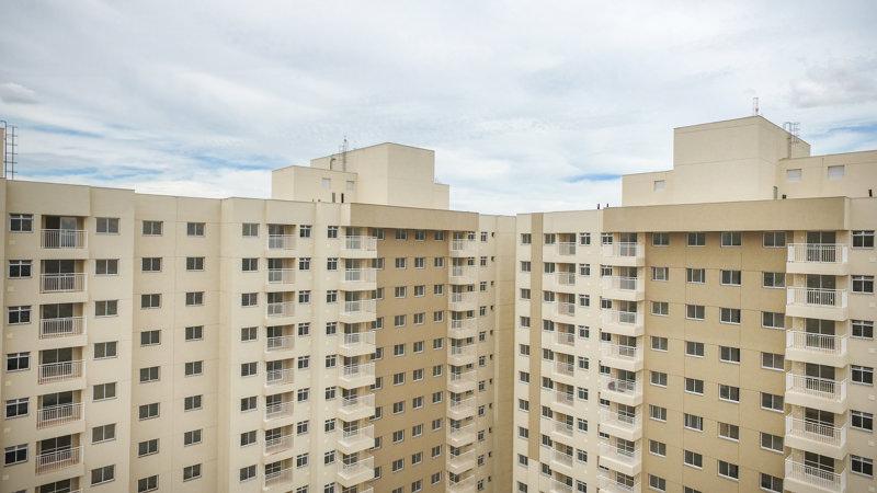 Vista superior das fachadas