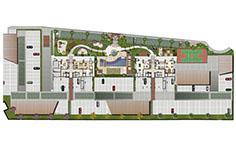 Implantação do condomínio - Le Boulevard - Place Vendôme - Tecnisa