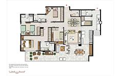 133 m² - 3 suítes - 1º pav - Le Boulevard - Place Vendôme - Tecnisa