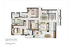 133 m² - 3 suítes com copa - Le Boulevard - Place Vendôme - Tecnisa