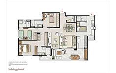 133 m² - 3 suítes com sala ampliada - Le Boulevard - Place Vendôme - Tecnisa