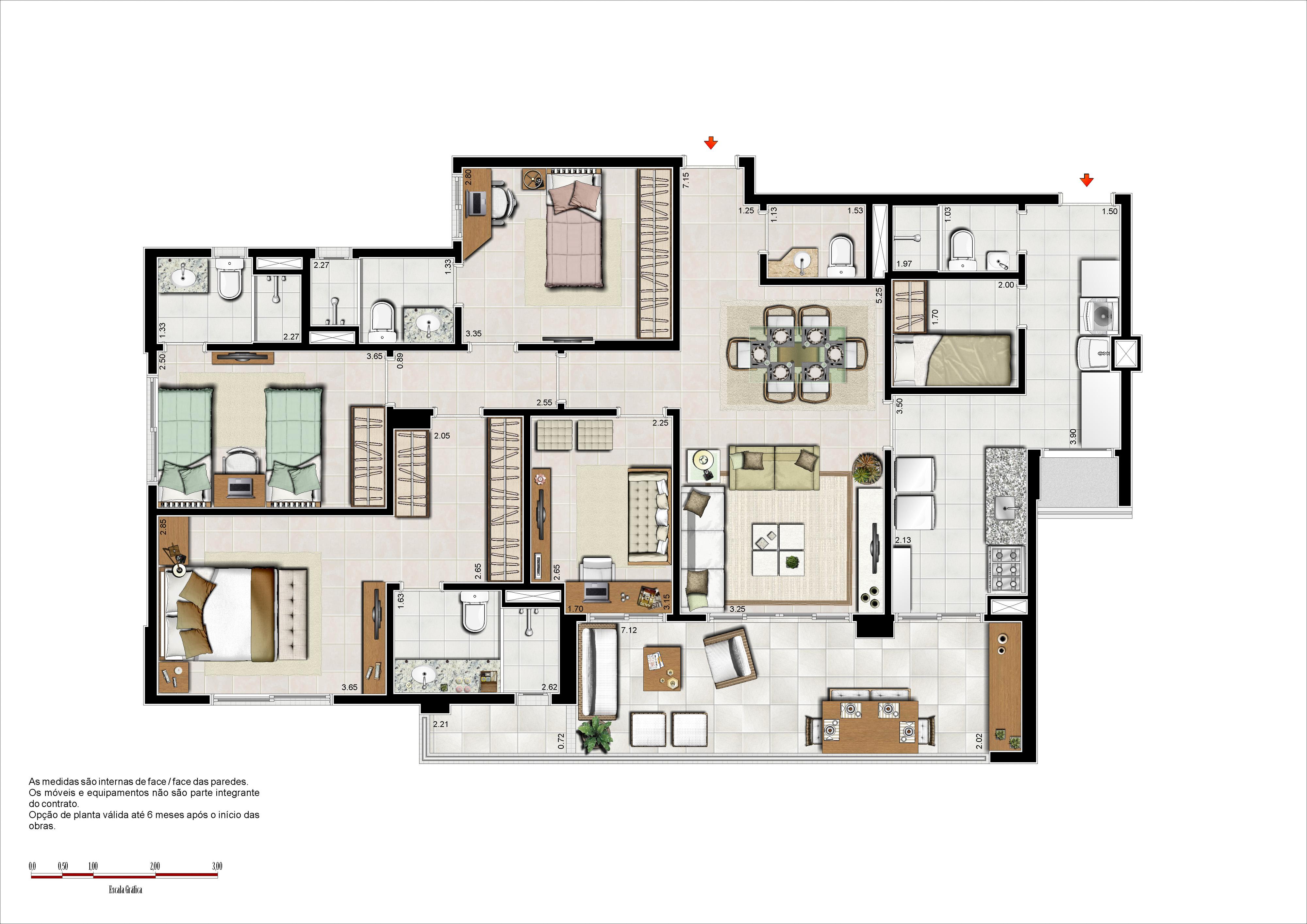 133 m² - 3 suítes