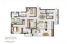 133 m² - 3 suítes - Le Boulevard - Place Vendôme - Tecnisa
