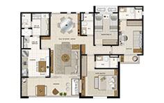113 m² - 3 dorms - Mandara Kauai - Tecnisa