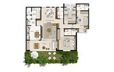 113 m² - 3 dorms - 1º pavimento - Mandara Kauai - Tecnisa