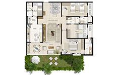 126 m² - 3 suítes - 1º pavimento - Mandara Kauai - Tecnisa