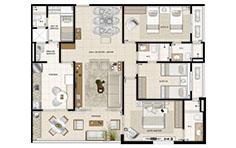 126 m² - 3 suítes  - Mandara Kauai - Tecnisa