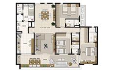 148 m² - 3 suítes - Mandara Kauai - Tecnisa
