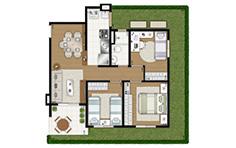 87,30m² - 3 dorms - Garden - Flex Osasco II - Tecnisa