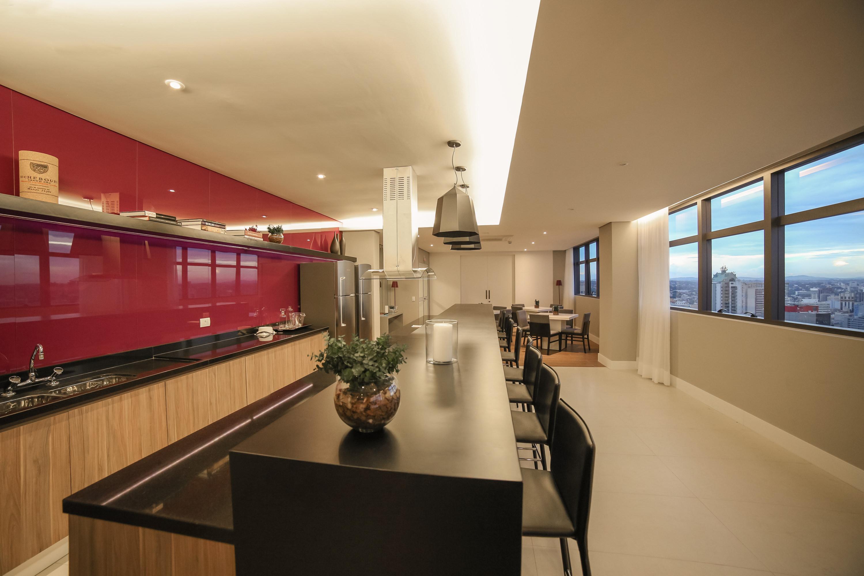 Salão de festas no 32º pavimento exclusivo do residencial
