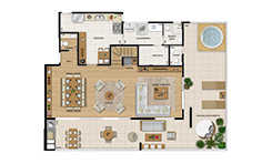 308m² - Duplex inferior tipo - 4 quartos - Wizz - Tecnisa