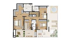 308m² - Duplex superior tipo - 4 quartos - Wizz - Tecnisa
