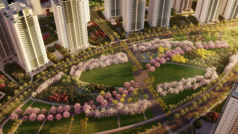 Vista aérea do Parque Jardim das Perdizes