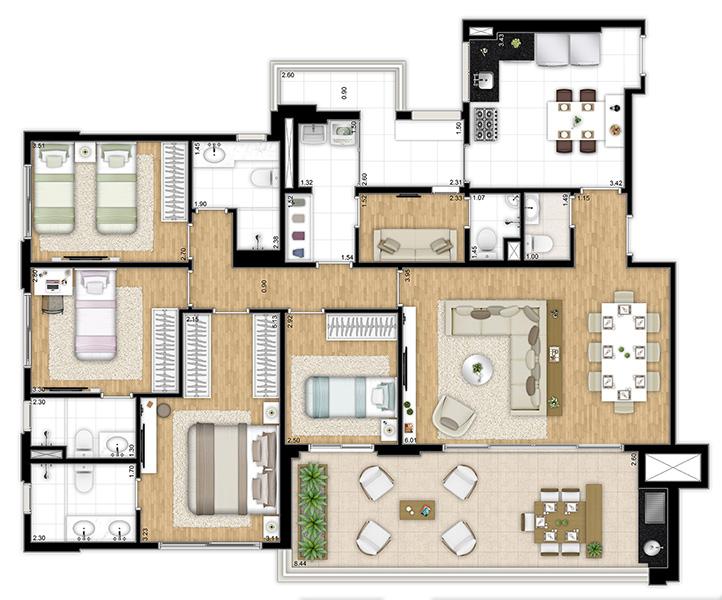 159 m² - 4 dormitórios