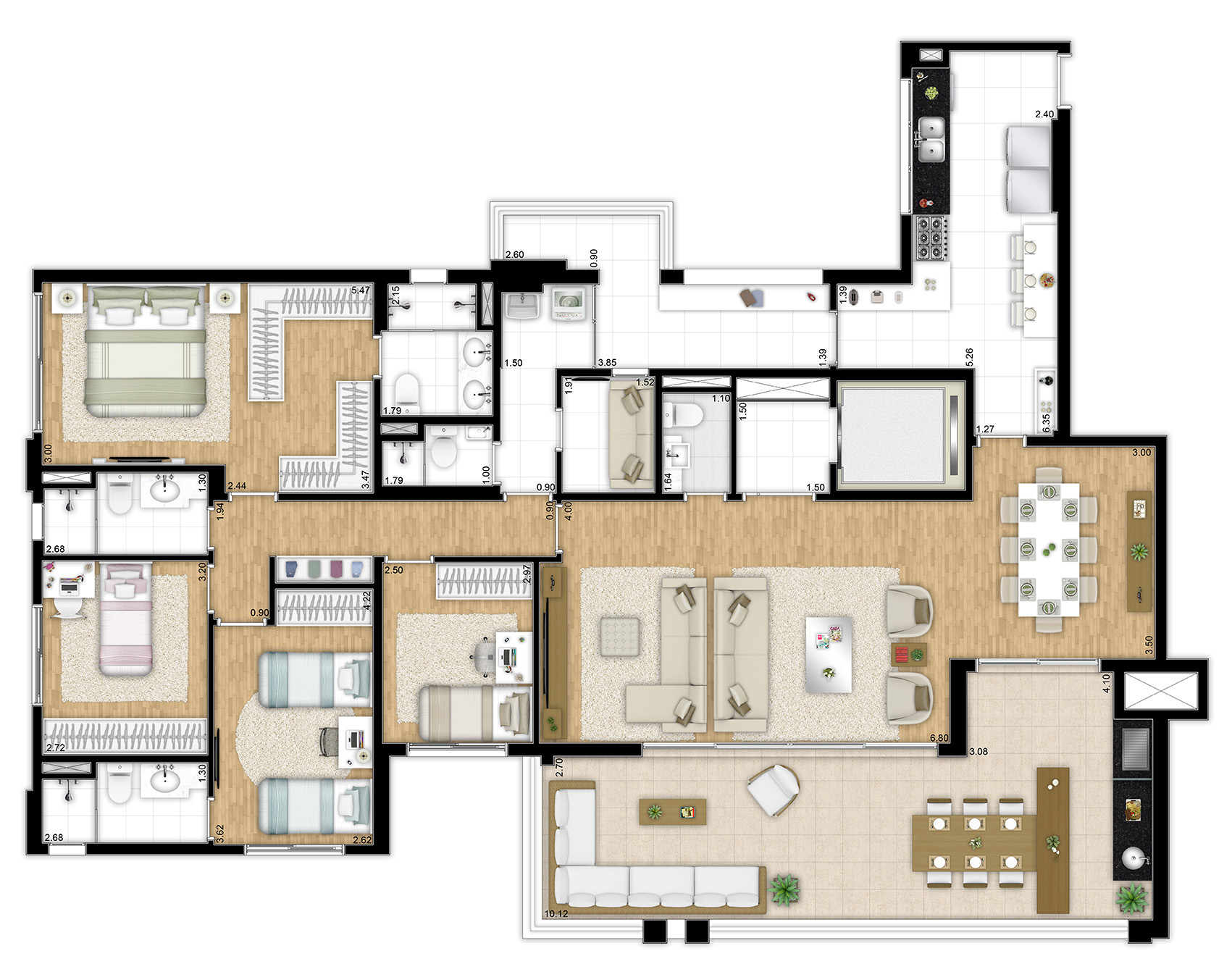 197 m² - 4 dormitórios
