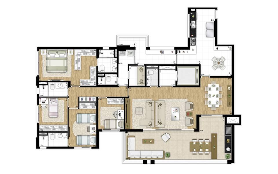 202m² - 4 dormitórios