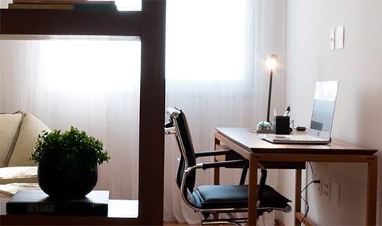 Decorado 241 m²   Home office - Reserva Manacá - Tecnisa