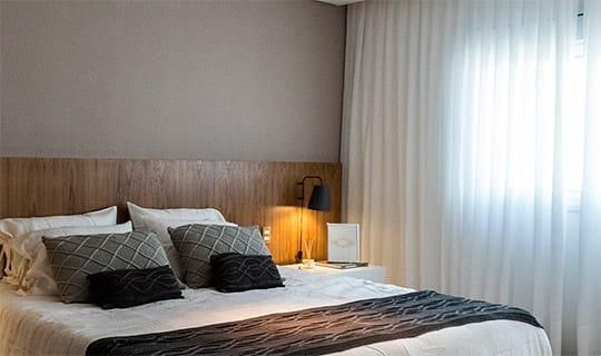 Decorado 241 m²   Suíte do casal - Reserva Manacá - Tecnisa