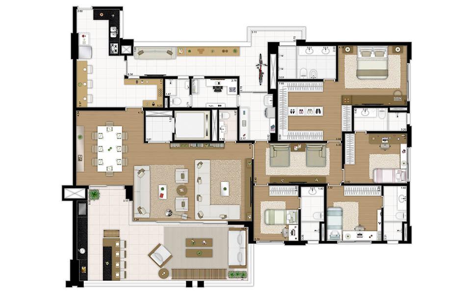 283 m² - 4 suítes