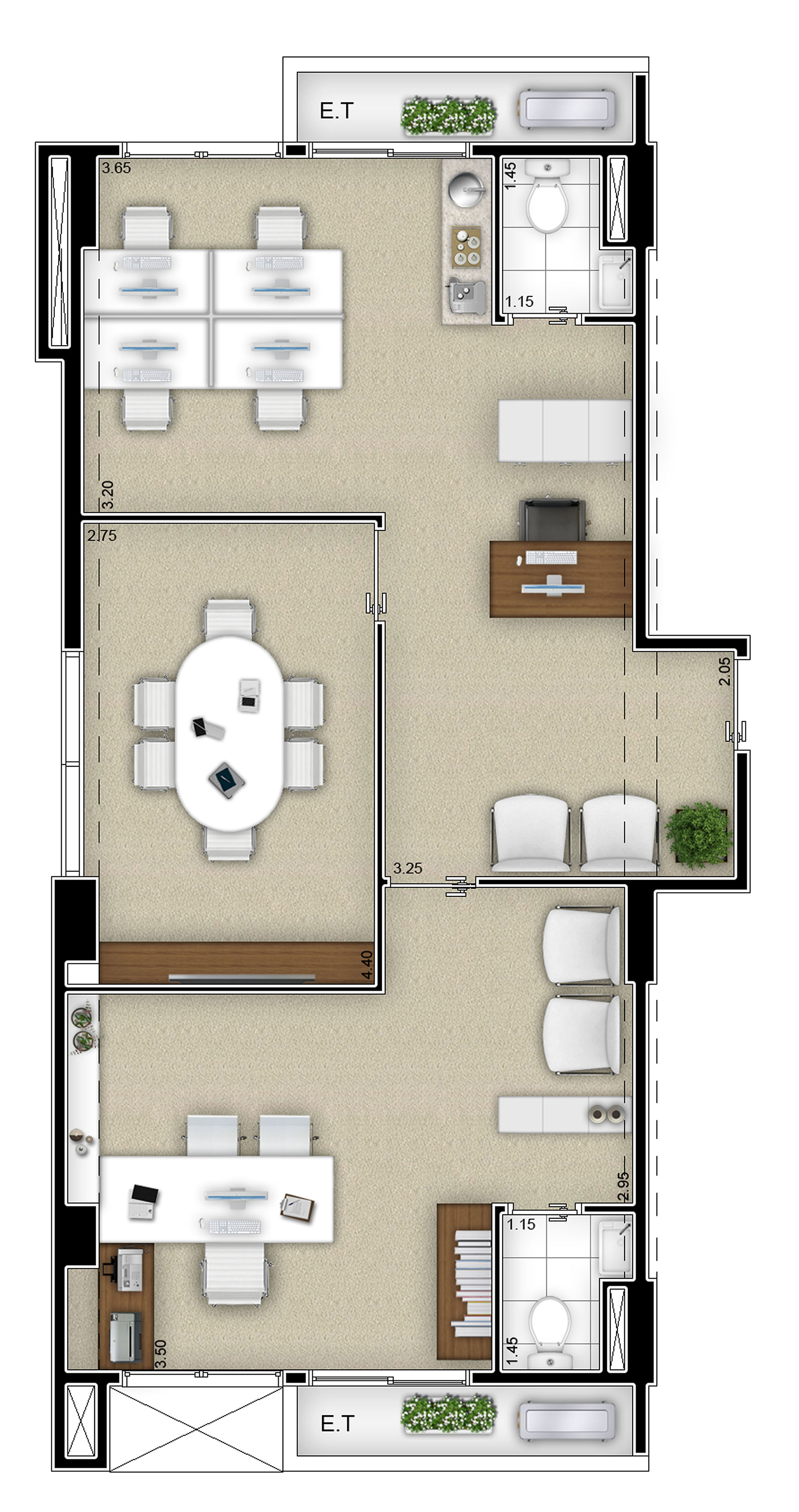 Salas 11 e 12