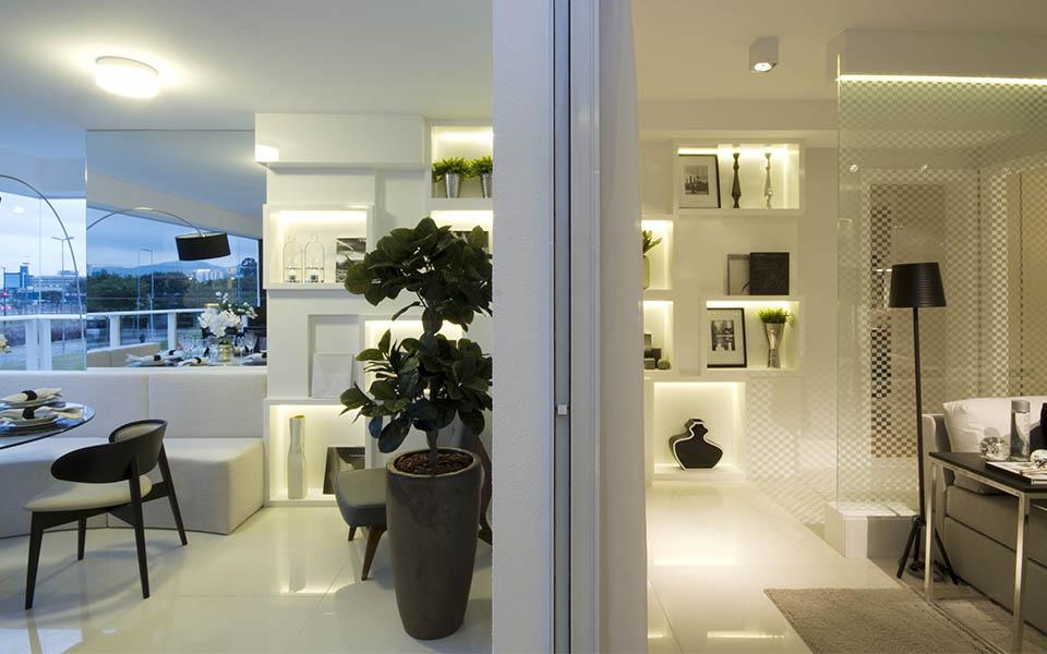 108 m² - Sala de estar e terraço